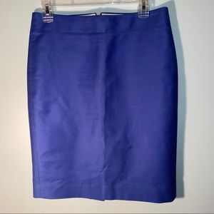 J.Crew No.2 Pencil Skirt Cobalt Blue Size 4